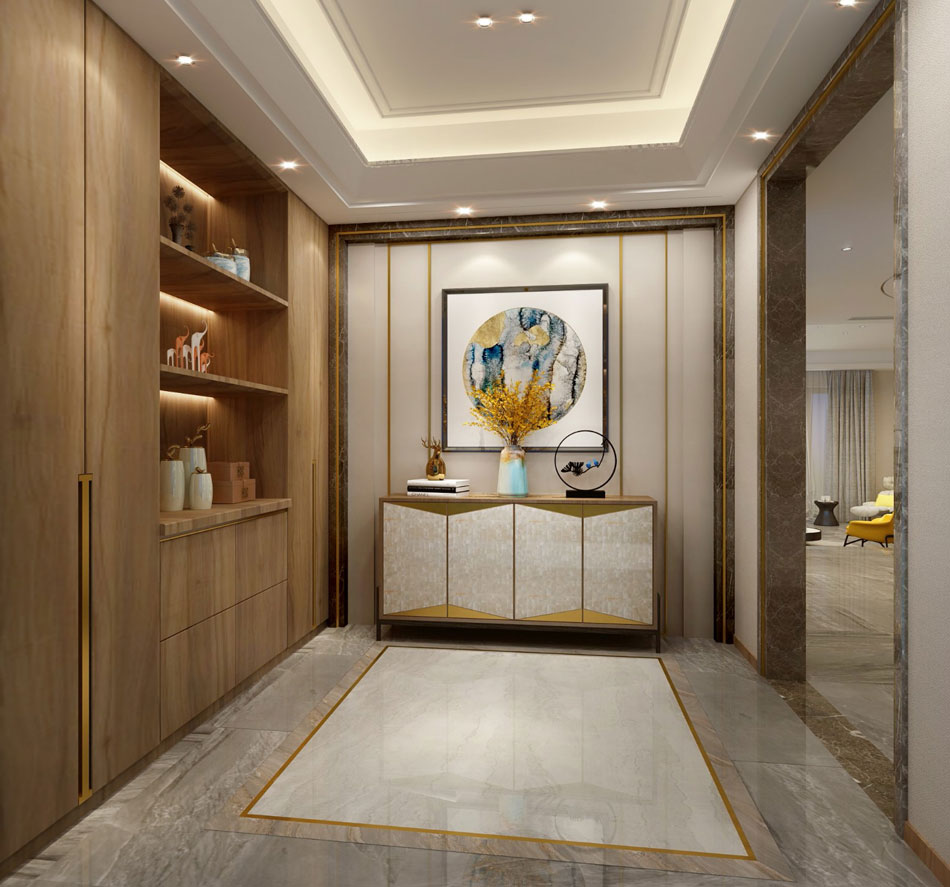> 新中式別墅裝修效果圖 中式設計摻入現代舒適搭配的混搭風