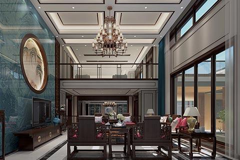 新中式别墅装修效果图,以中式元素为主塑造中式家居魅力