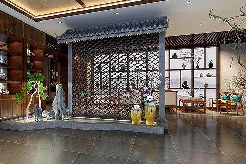 古韵茶楼中式装修效果图 茶楼装修设计图赏析