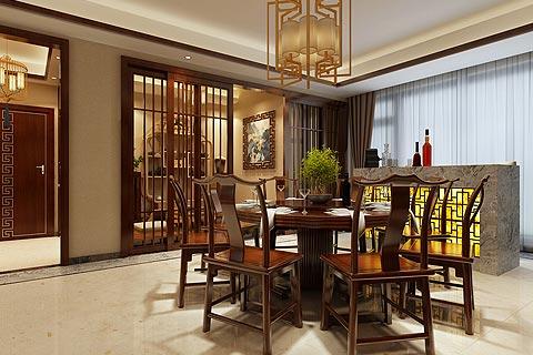 别墅中式装修效果图 中式设计别墅家居效果图赏析