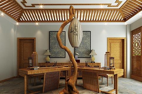 新中式别墅装修效果图 别墅装修新中式设计效果图赏析