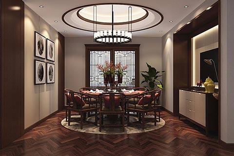 别墅中式装修效果图 别墅新中式设计图片赏析
