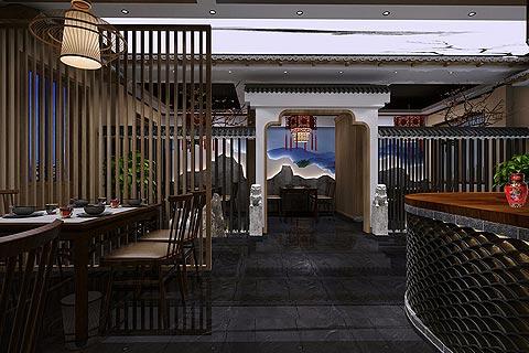 酒楼中式装修效果图 餐饮空间中式装修效果图赏析