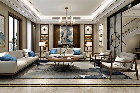 新中式别墅装修效果图 新中式设计具有现代而又传统的格调