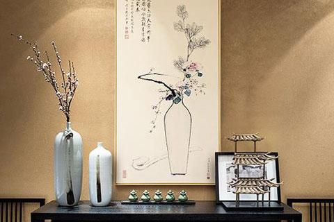 中国书画为现代中式设计空间营造素雅自然之美