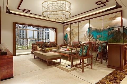 新中式别墅装修效果图 设计以传统中式元素点缀出文化底蕴