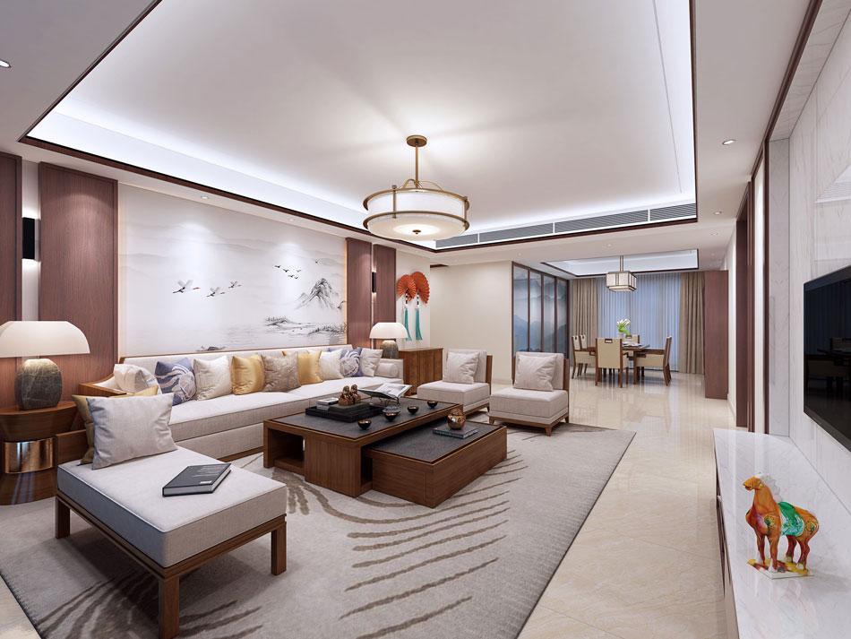 本套图片来源于设计圈 是一套简约中式别墅装修效果图