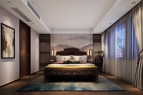中式别墅装修效果图 新中式禅意风格设计别墅装修图赏析
