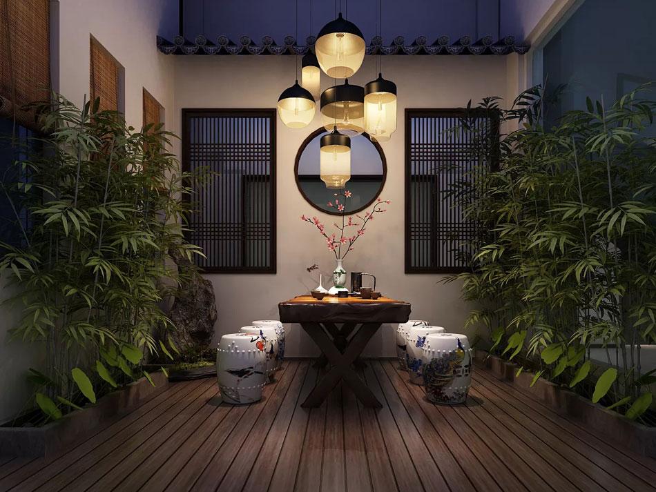 本套图片来源于站酷 是一套新中式禅意别墅装修效果图