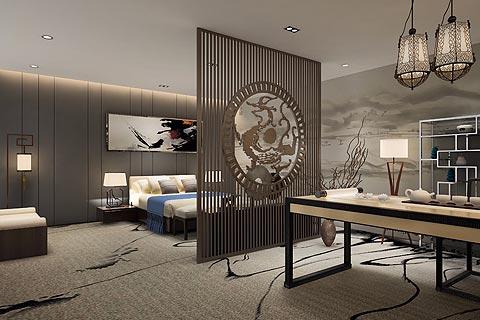 酒店中式装修效果图 星级酒店中式风格设计效果图赏析