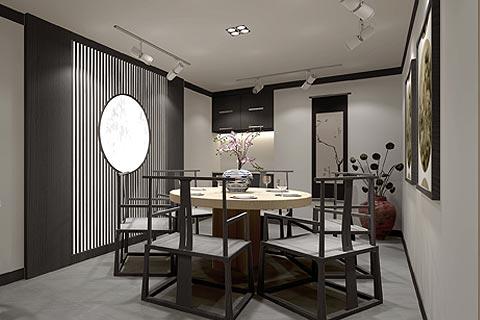 禅意茶楼中式装修效果图 禅韵茶楼设计装修效果图赏析