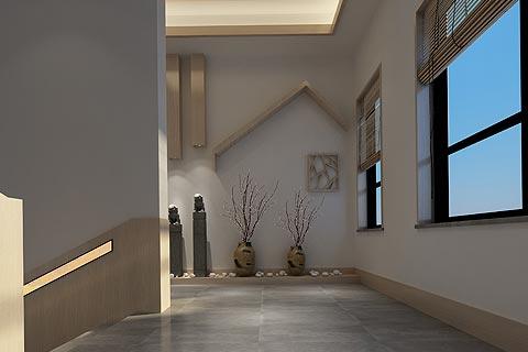 酒店中式装修效果图 禅意风格设计酒店装修效果图赏析