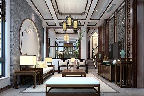 新中式装修效果图 中式设计别墅装修效果图赏析