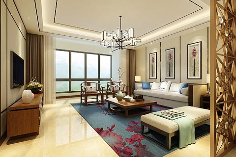 客厅装修效果图 中式设计客厅装修效果图集锦