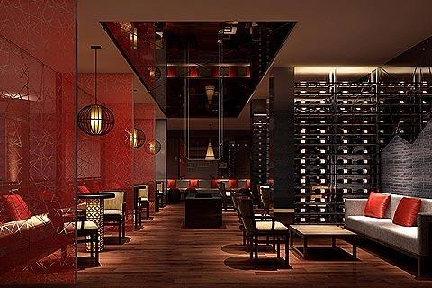 餐饮区中式装修效果图 餐饮空间中式装修效果图赏析