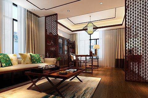 楼中楼中式装修效果图 复式楼家居装修效果图赏析