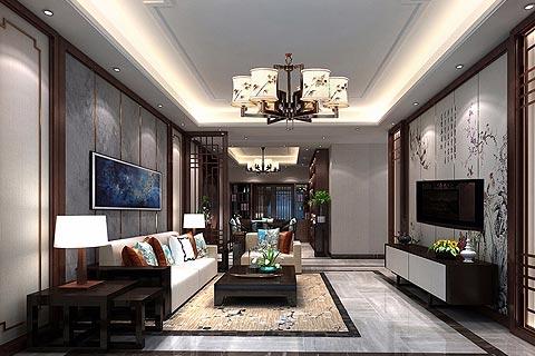 别墅中式装修效果图 新中式装修别墅设计图片赏析