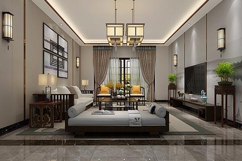 新中式别墅装修效果图 具有现代感的新中式设计家居效果图