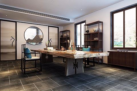 新中式设计别墅装修效果图 别墅中式装修效果图带禅意韵镜