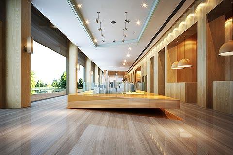 售楼处中式装修效果图 2018售楼处中式设计图片赏析