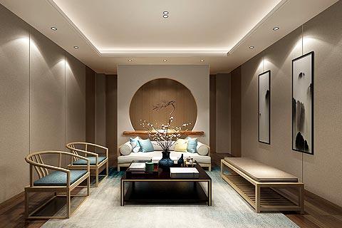 禅意风格别墅装修效果图 新中式禅意设计别墅图片欣赏