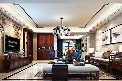 新中式别墅装修效果图 中式风格的质感融入现代生活