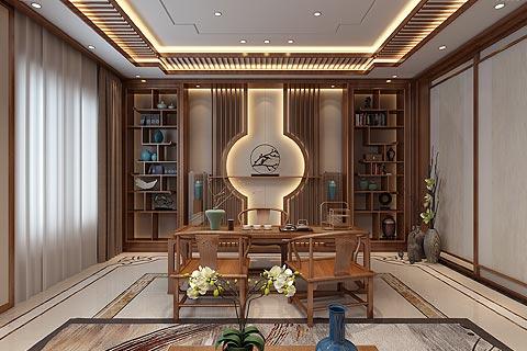 禅意别墅装修效果图 禅意风格新中式设计效果图赏析
