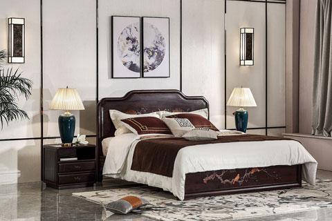 新中式家具陈设在家庭装修空间摆放效果图