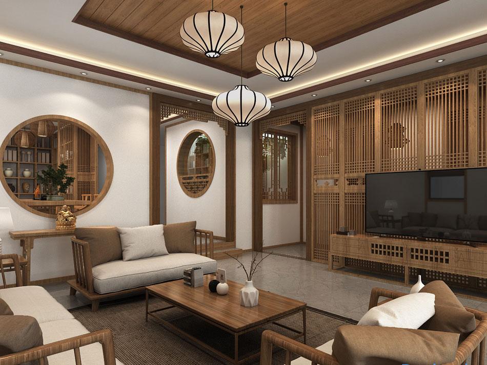 > 中式别墅设计之禅意简约风格装修效果图欣赏