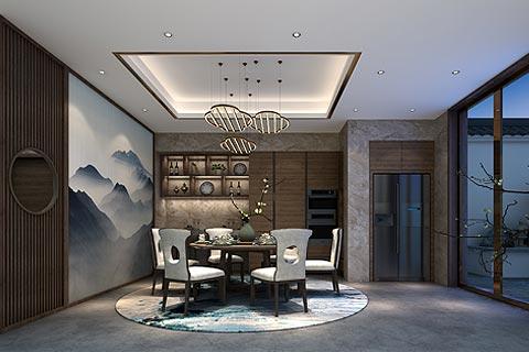 新中式别墅装修效果图 新中式设计让清新与典雅脱俗家居