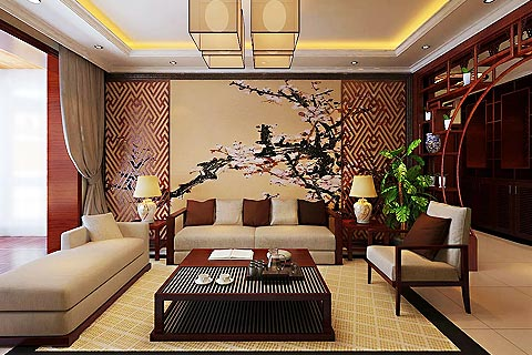 新中式别墅装修效果图 中式贵气融入现代简约让家居不沉闷