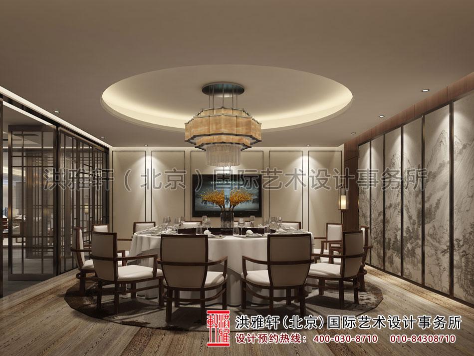 茶会所中式设计之餐饮空间效果图