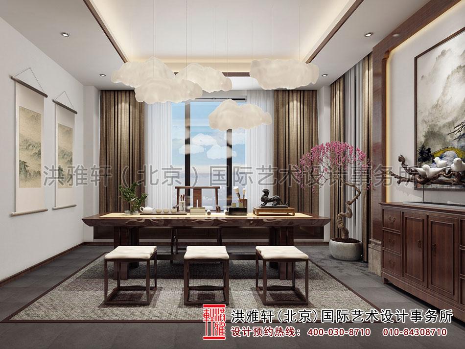 茶会所设计之茶室空间效果图