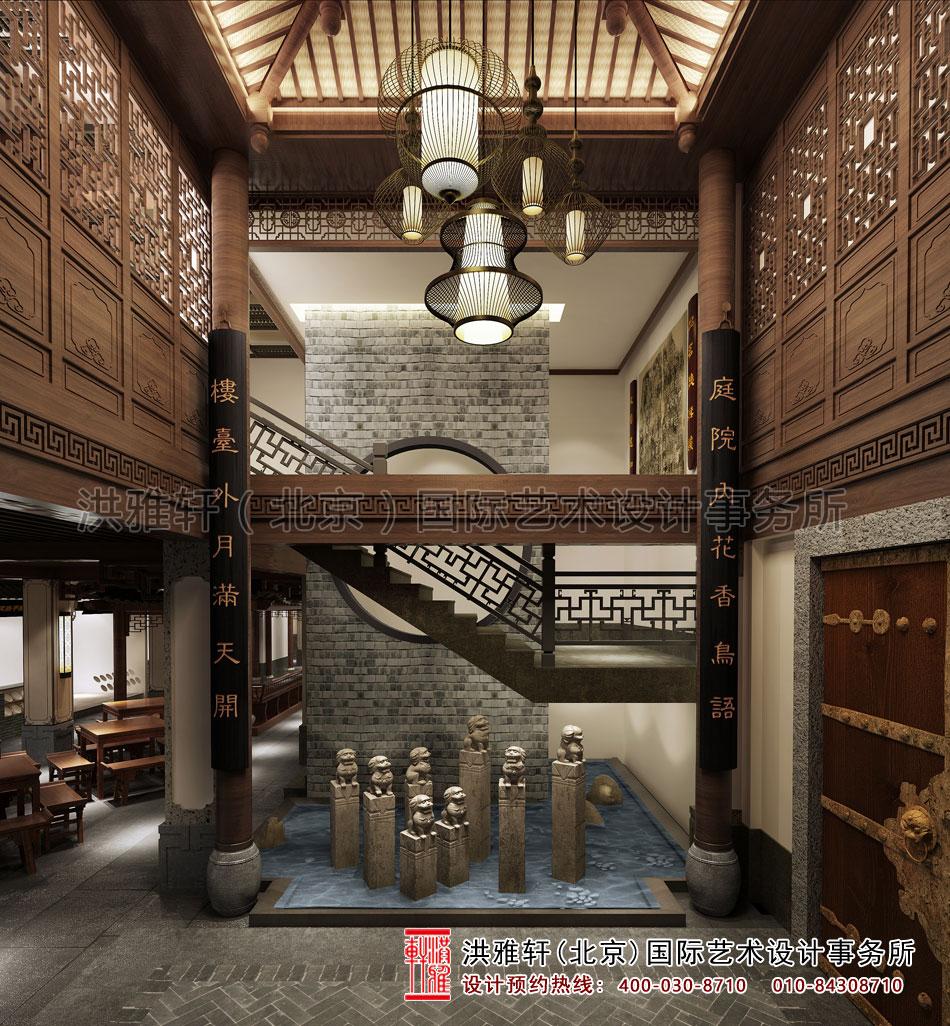 山东某客户茶楼设计之大厅过道效果图