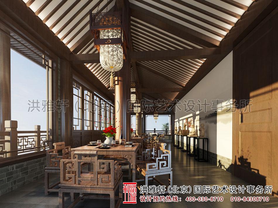 山东某客户茶楼设计之大厅效果图