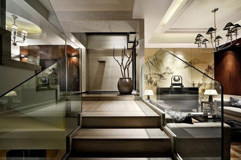 泰禾红树林别墅中式装修,邂逅古典艺术和时尚元素