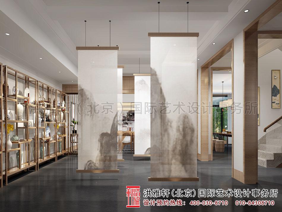 禅意茶楼设计之大厅隔断效果图