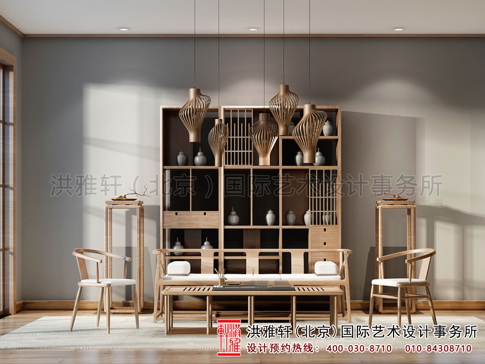 禅意茶楼设计之茶室效果图(二)