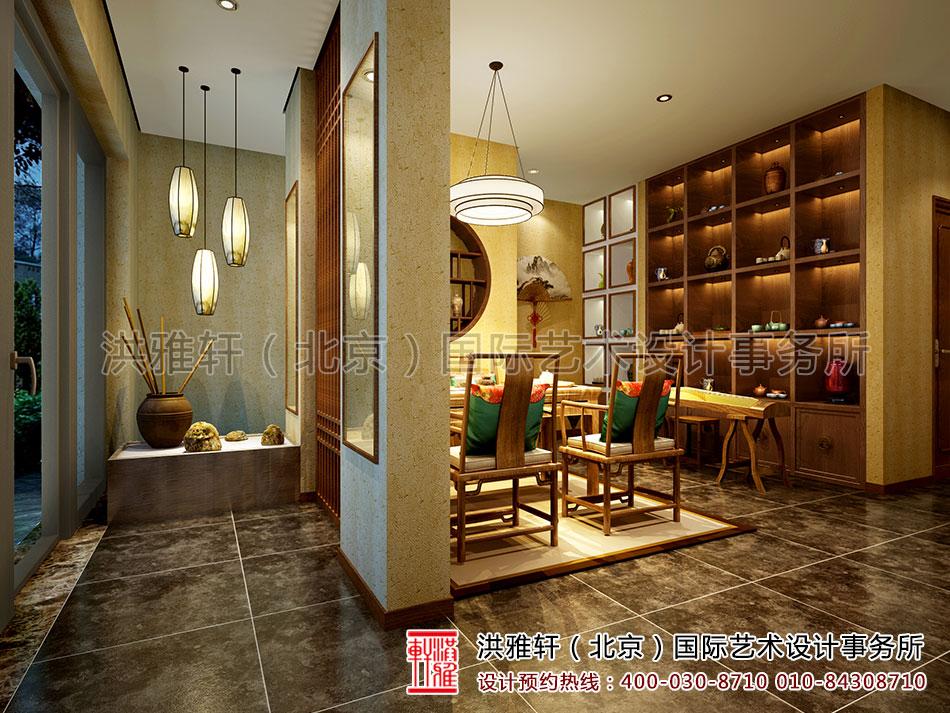 茶楼中式装修之品茶区