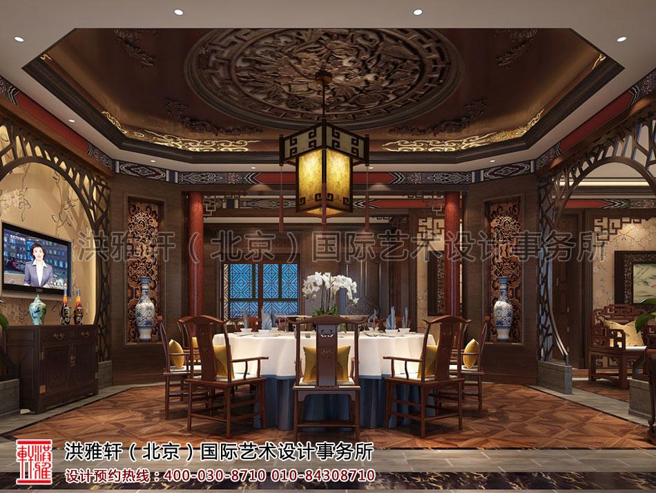 餐厅包间茶楼古典中式装修