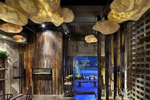 古典茶楼中式装修案例,简约古朴清香四溢