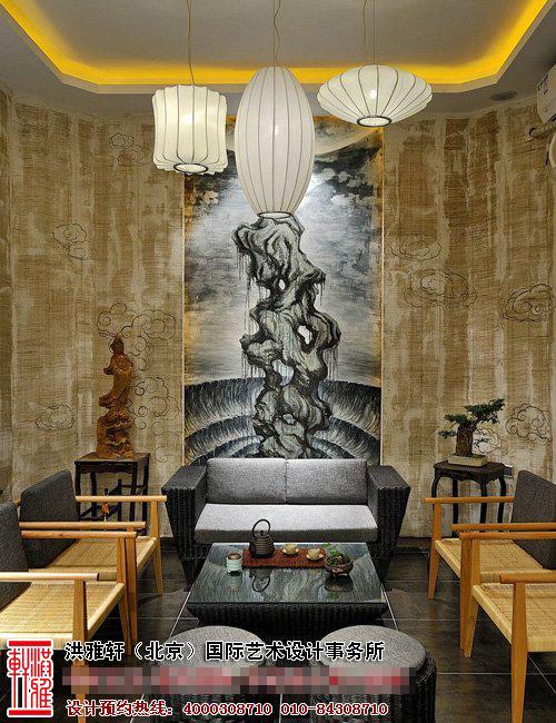 茶楼茶室中式装修图片