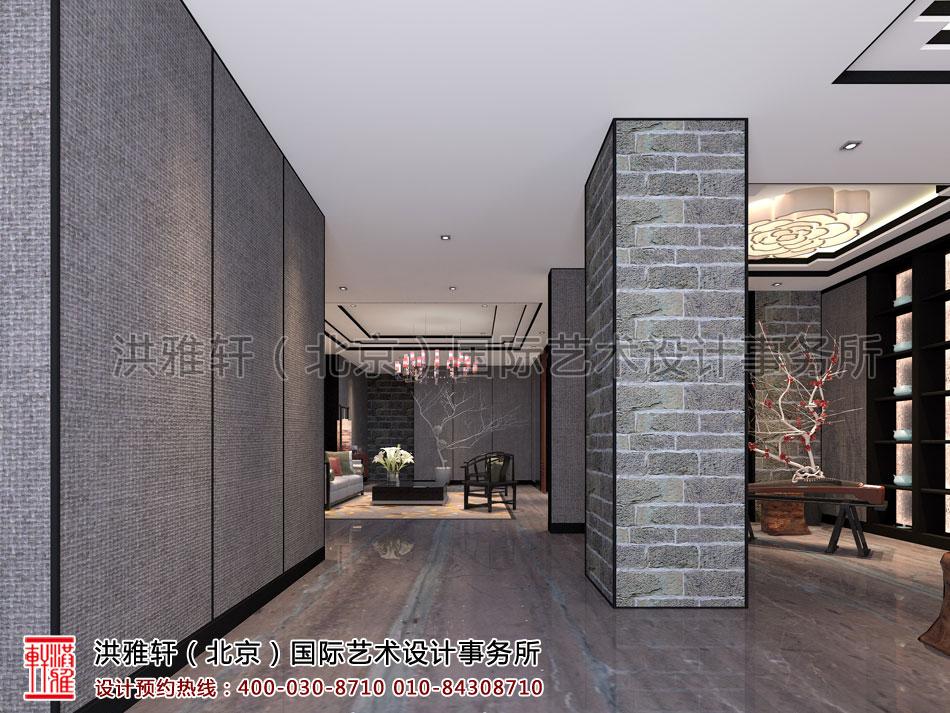 过道新古典中式装修茶楼