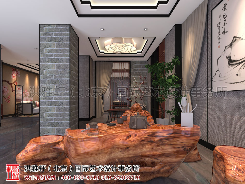 茶室新古典中式装修茶楼