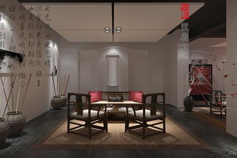 简约中式风格禅茶室设计——古雅、幽静,富有禅意风韵