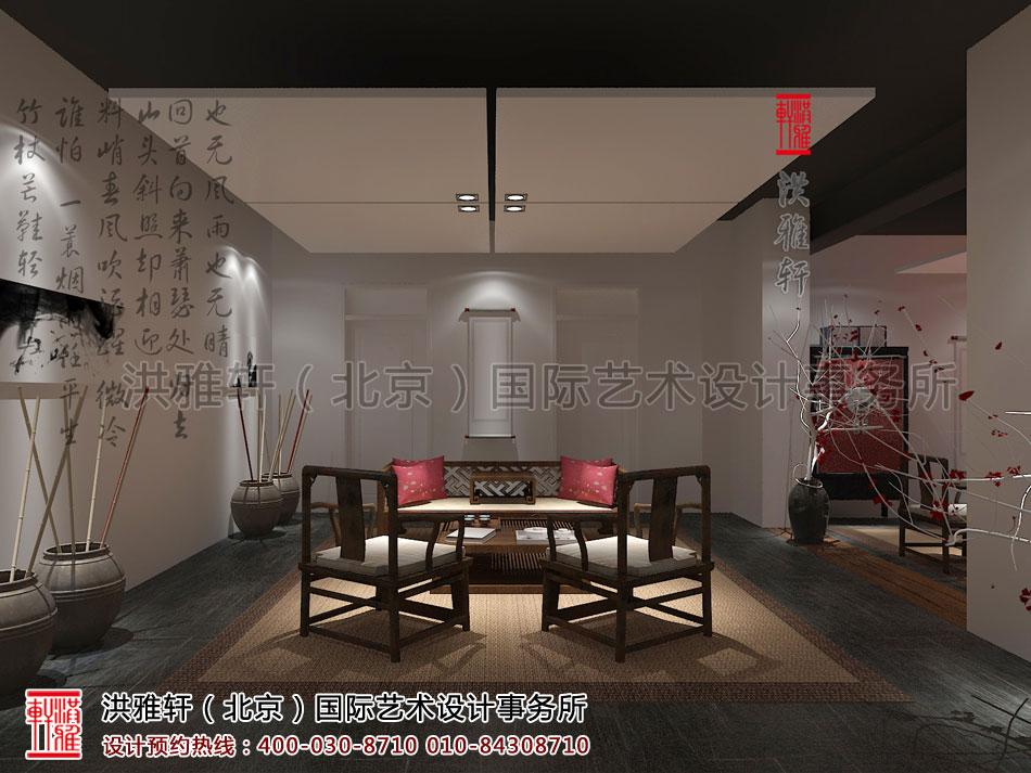简约中式风格禅茶室设计图