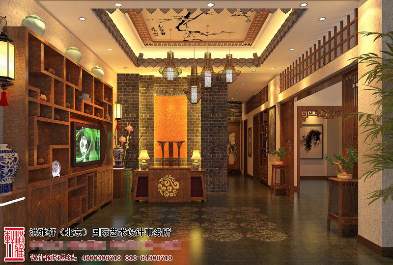 河茶楼中式装修图片