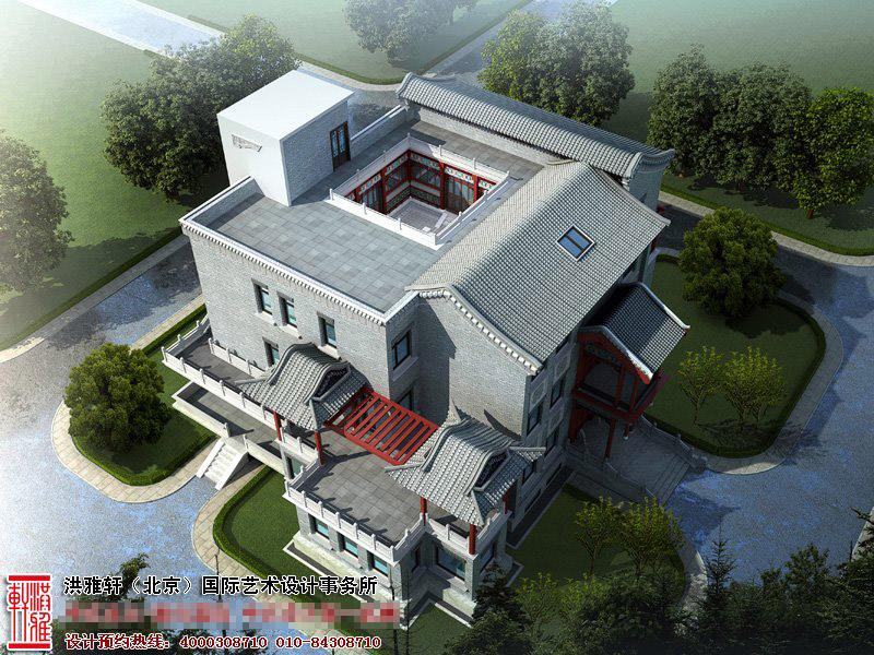 空中四合院别墅设计效果图