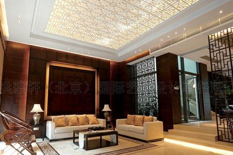 别墅客厅现代中式设计图