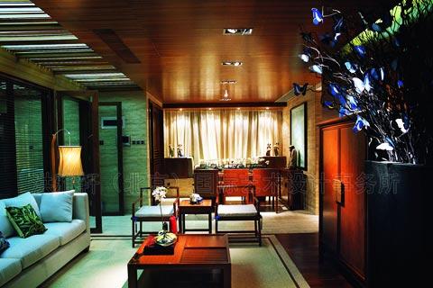 现代中式风格客厅装修设计图